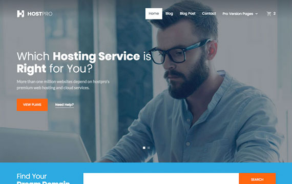 Free Bootstrap Hosting Template
