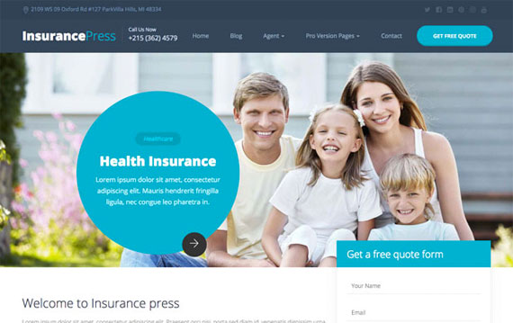 Free Bootstrap Insurance Template