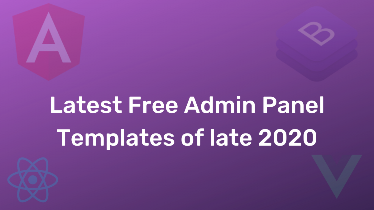Latest Free Admin Panel Templates of late 2020