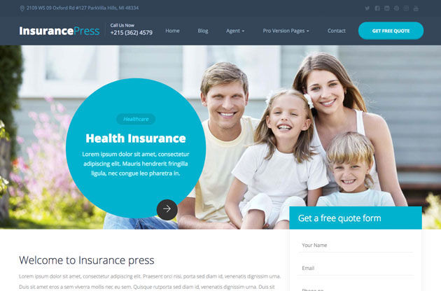 InsurancePress - Bootstrap Insurance Template