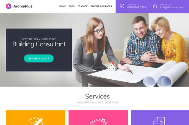 Architect - Free Bootstrap template for Architect
