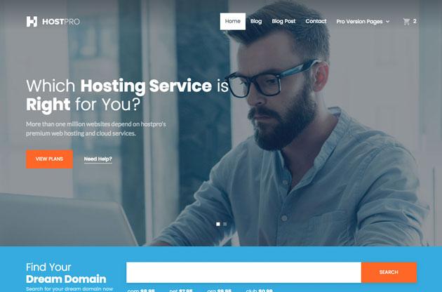 HostPro - Free Bootstrap Hosting Template